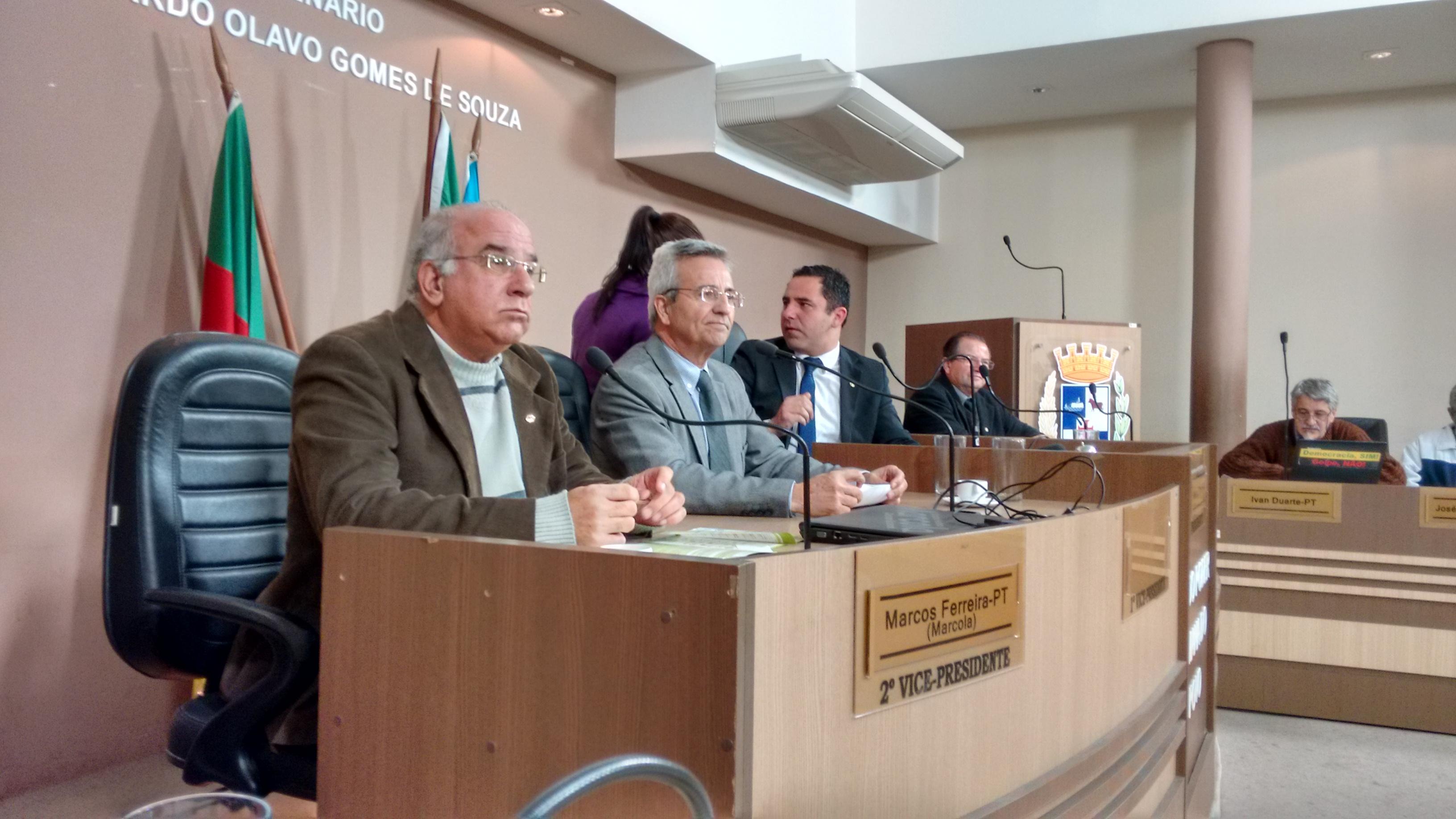 Em maio, diretoria do OSPel apresentou proposta aos vereadores